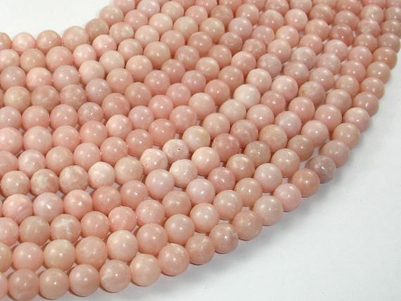 Pink Opal, 6 mm Round Beads