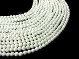 White Sponge Coral Beads, Round, 6mm(6.5 mm)-BeadBeyond