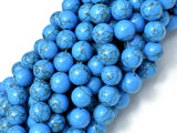 Howlite Turquoise Beads, Blue, 10mm Round Beads