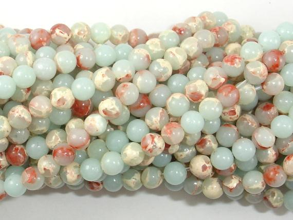 Impression Jasper, 4mm(4.5mm) Round Beads-BeadBeyond