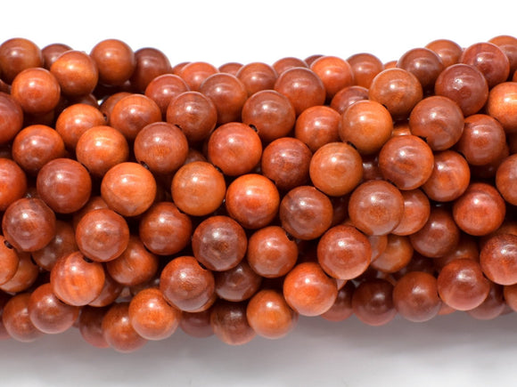 Dragon Blood Wood Beads, 8mm Round Beads, 35 Inch