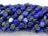 Natural Lapis Lazuli, Approx 6x8mm Nugget Beads-BeadBeyond