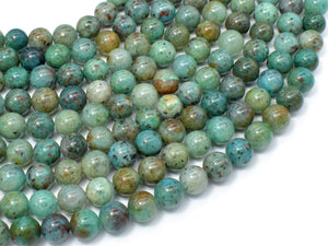 Chrysocolla-Natural , 8mm Round Beads