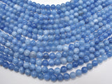 Jade Beads-Blue Gray, 8mm Round Beads-BeadBeyond