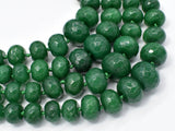 Jade-Green Beads, 5x8-14x20mm Graduated Faceted Rondelle-BeadBeyond