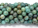 Chrysocolla-Natural , 10mm Round Beads-BeadBeyond