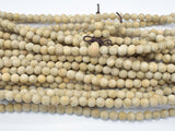 Matte Silkwood Beads, 6mm Round Beads-BeadBeyond