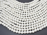 White Lava Beads, 8mm Round Beads, 14.5 Inch-BeadBeyond