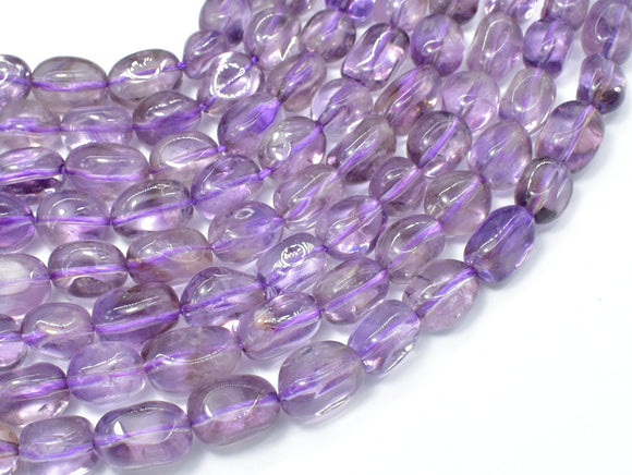 Amethyst, Light Purple, 8x12mm Nugget Beads, 15.5 Inch