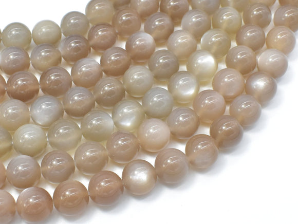 Gray Moonstone, 10mm Round Beads-BeadBeyond