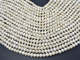 Fresh Water Pearl Beads-White, Approx 6-7mm Potato Beads-BeadBeyond