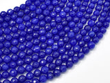 Jade Beads, Blue, 6mm Faceted Round-BeadBeyond