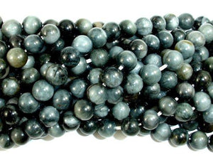 Hawk Eye Beads, Round, 6 mm-BeadBeyond