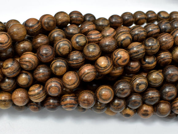 Tiger Skin Sandalwood Beads, 8mm Round Beads-BeadBeyond