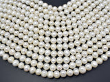 Fresh Water Pearl Beads-White, Approx 9-10mm Potato Beads