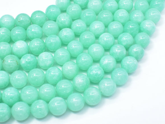 Jade Beads-Light Green, 10mm Round Beads