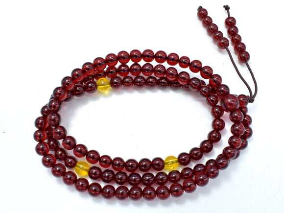 Blood Amber Resin, 6mm(5.8mm) Round Beads, 23 Inch, Approx 108 beads