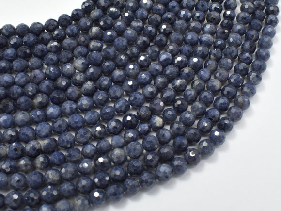 Blue Sapphire Beads, 4.5mm Faceted Round-BeadBeyond