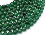 Jade Beads-Emerald, 10mm Round Beads-BeadBeyond