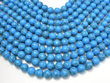 Howlite Turquoise Beads, Blue, 12mm Round Beads