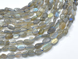 Labradorite, Approx 6x8mm Nugget Beads-BeadBeyond