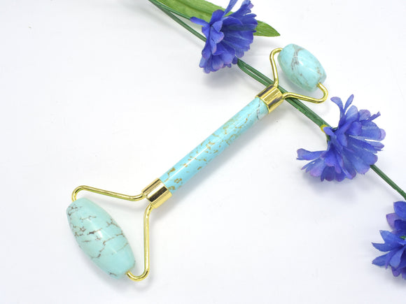 Face Roller-Turquoise Howlite, Face and Eye Rolle