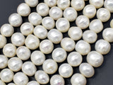 Fresh Water Pearl Beads-White, Approx 9-10mm Potato Beads-BeadBeyond