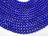 Jade Beads, Blue, 8mm (8.3mm) Faceted Round-BeadBeyond