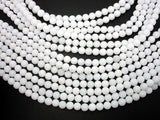 Matte White Jade Beads, 6mm (6.4mm) Round Beads-BeadBeyond