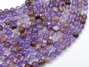 Super Seven Beads, Cacoxenite Amethyst, 6mm Round