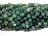 Moss Agate Beads, 6mm Faceted Round Beads, 15 Inch-BeadBeyond