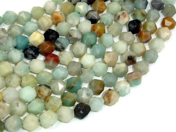 Amazonite Beads, 8mm Star Cut Faceted Round