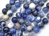 Sodalite Beads, 10mm Round Beads-BeadBeyond