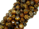 Tiger Eye Beads, 10mm Star Cut Faceted Round-BeadBeyond