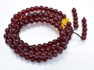 Blood Amber Resin, 8mm(5.8mm) Round Beads, 33 Inch, Approx 108 beads