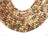 Spicy Jasper Beads, Plum Blossom Jasper, 6mm Round Beads-BeadBeyond
