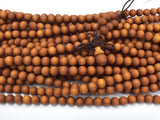 Matte Sandalwood Beads, 6mm(6.3mm) Round Beads-BeadBeyond