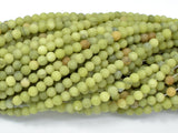 Matte Jade Beads, 4mm (4.3mm) Round Beads-BeadBeyond