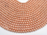 Lava-Copper Plated, 6mm (6.7mm) Round Beads-BeadBeyond