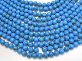 Howlite Turquoise Beads, Blue, 10mm Round Beads-BeadBeyond