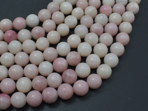 Pink Opal, 10mm(10.5mm) Round Beads-BeadBeyond