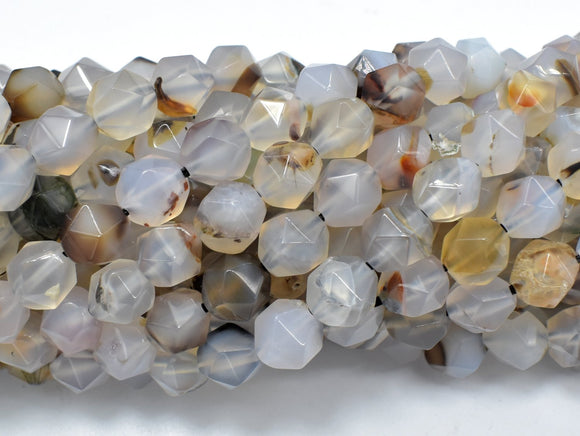 Agate Beads, 8mm Star Cut Faceted Round-BeadBeyond