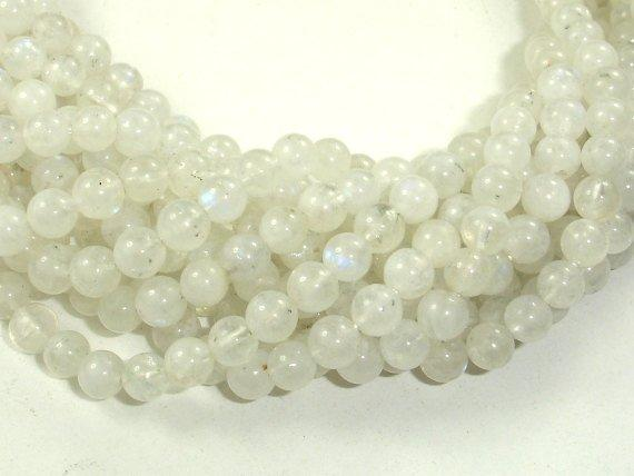 Moonstone Beads, 5.5mm(5.8mm) Round Beads-BeadBeyond