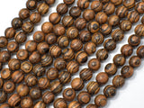 Tiger Skin Sandalwood Beads, 6mm Round Beads