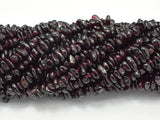 Red Garnet Beads, Pebble Chips, 4mm -7mm-BeadBeyond