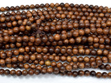 Black Rosewood Beads, 8mm Round Beads, 33 Inch