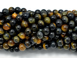 Blue / Yellow Tiger Eye, 6mm (6.3mm) Round-BeadBeyond