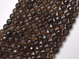 Smoky Quartz Beads, 6 mm Faceted Round Beads