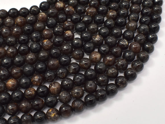Golden Mica Beads, Biotite Mica, 6mm (6.5mm)