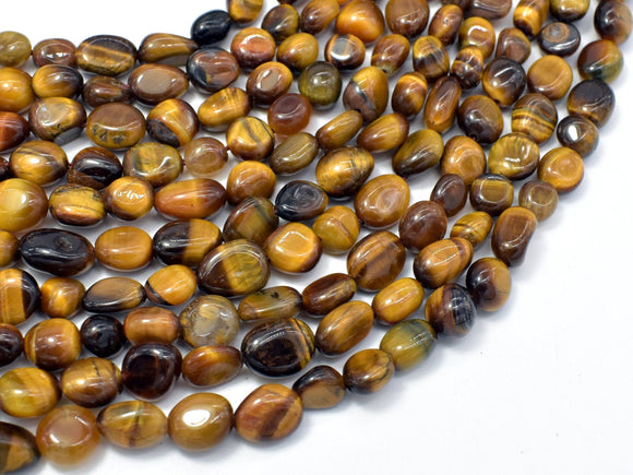 Tiger Eye, 6x8mm Nugget Beads, 15.5 Inch